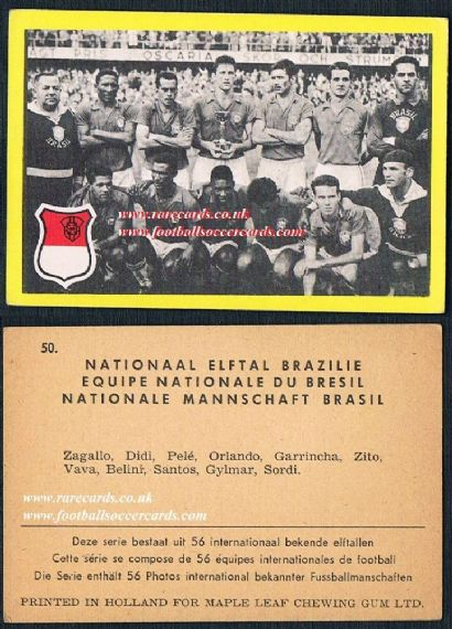 1960 Maple Leaf gum Brazil 58 team